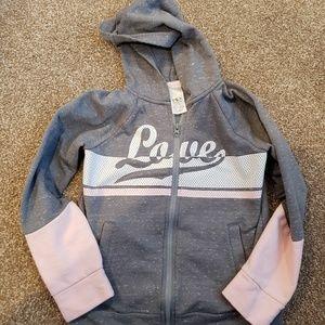 EUC Girls Love Zip Up Jacket